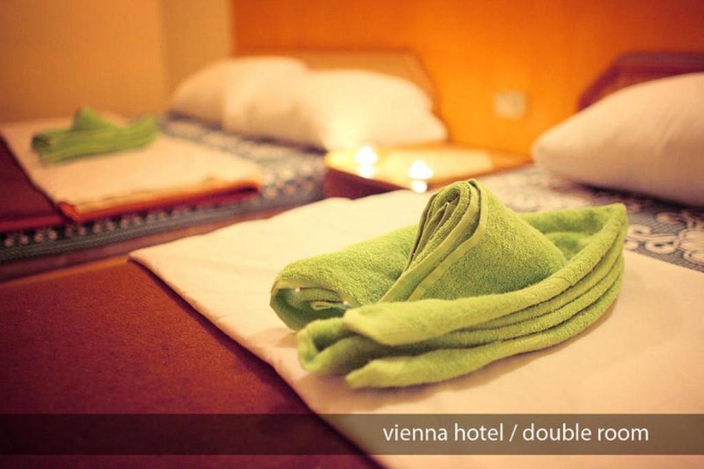 Hostel Vienna tesisinde bir odada yatak veya yataklar