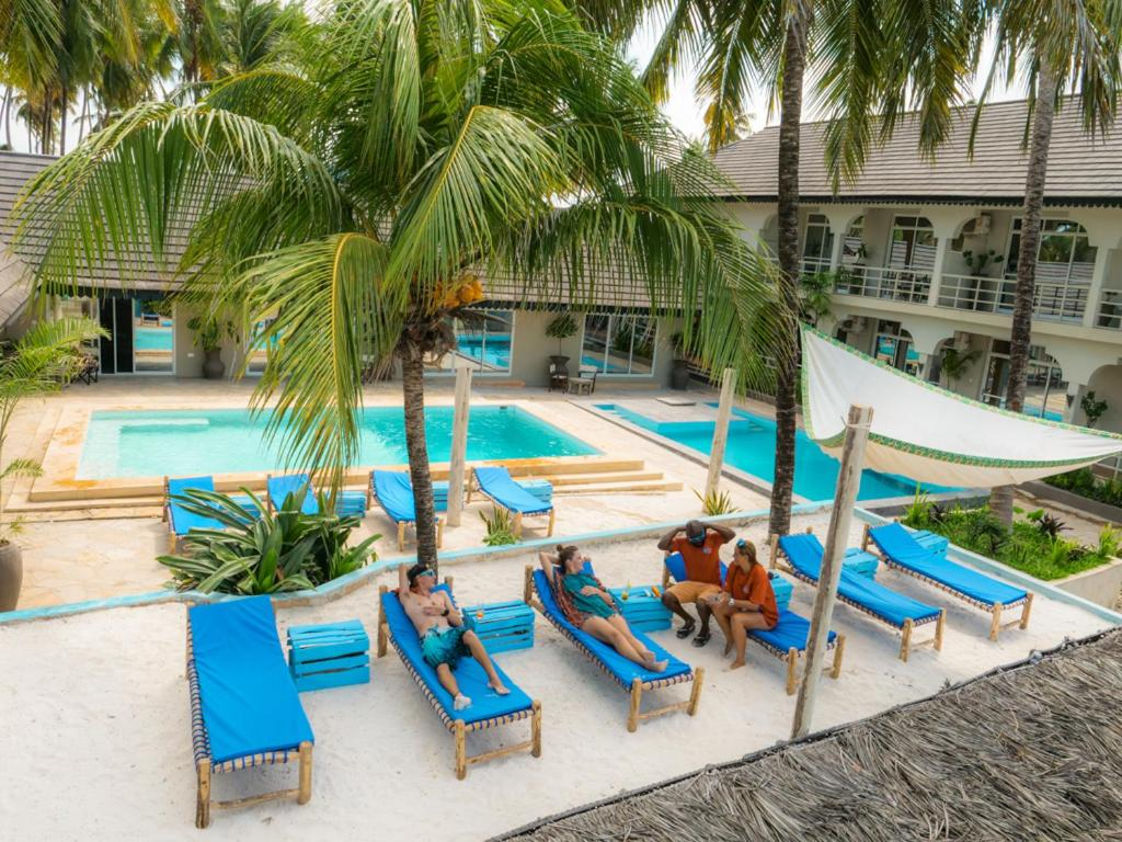 The swimming pool at or near Paje Beach Apartments & Hotel