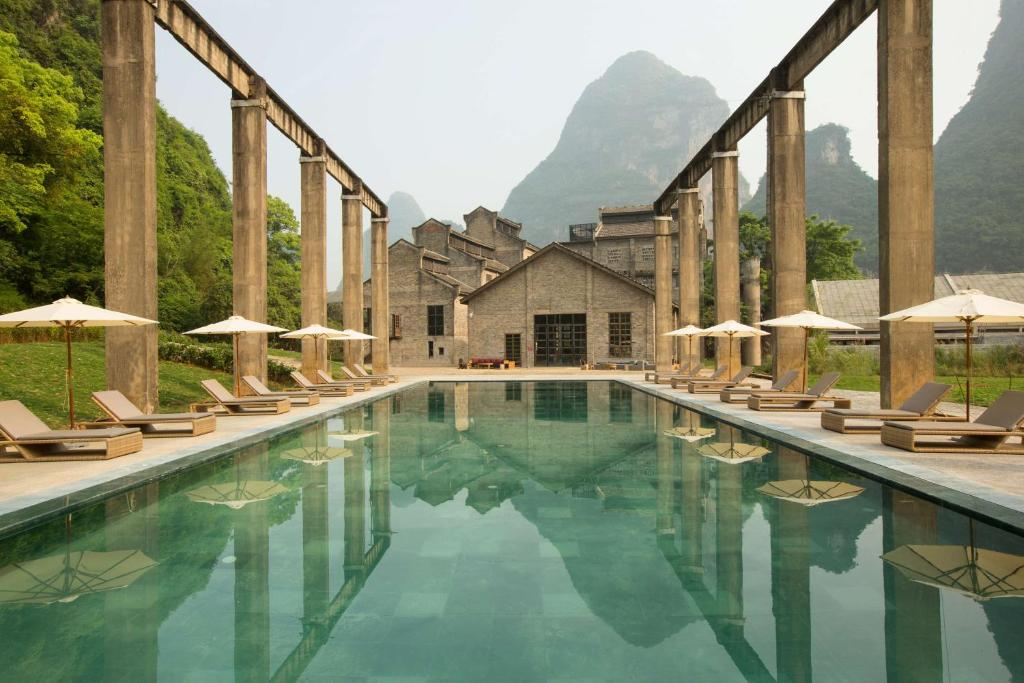 The swimming pool at or near Alila Yangshuo