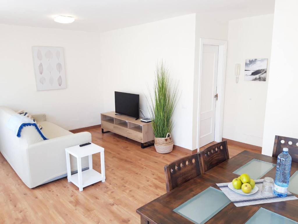 Zona de estar de Apartamento Jaspe by Sea You There Fuerteventura