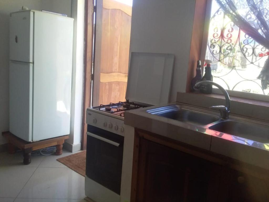 A kitchen or kitchenette at Olivine