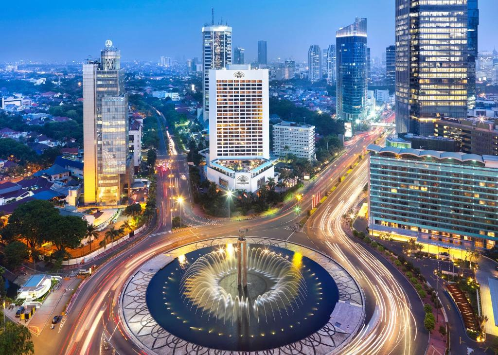 A bird's-eye view of Mandarin Oriental Jakarta