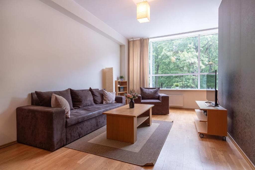 Гостиная зона в Dream Stay - Cozy open bedroom apartment near Noblessner