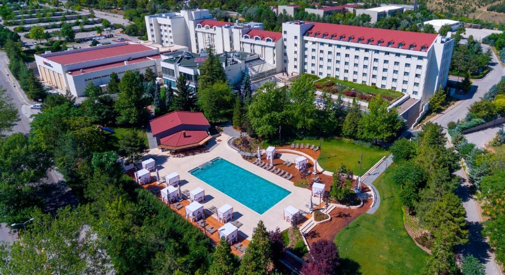 Bilkent Hotel and Conference Center с высоты птичьего полета