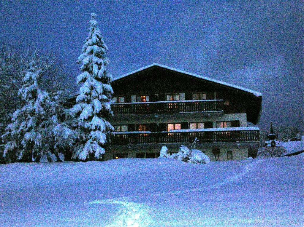 Chalet la Tovasse during the winter