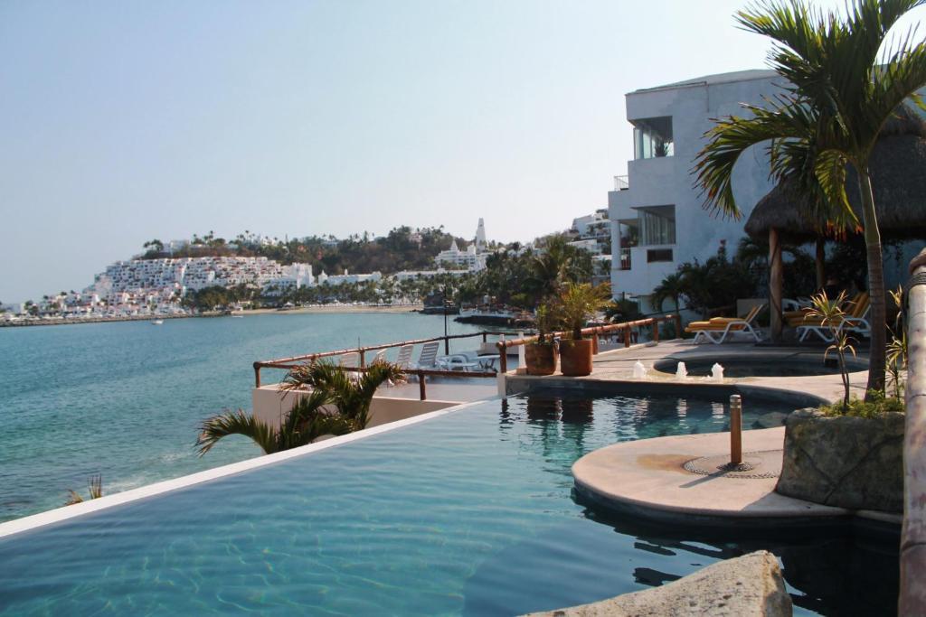 Vista del hotel Villas del Palmar en Manzanillo