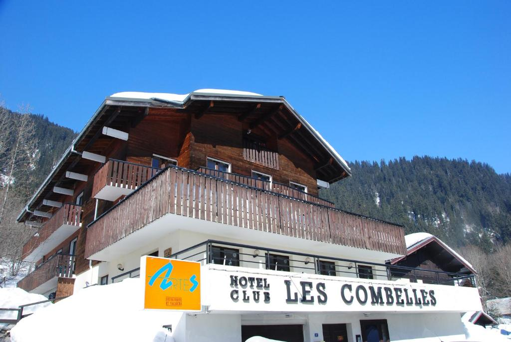 Hotel Les Combelles during the winter