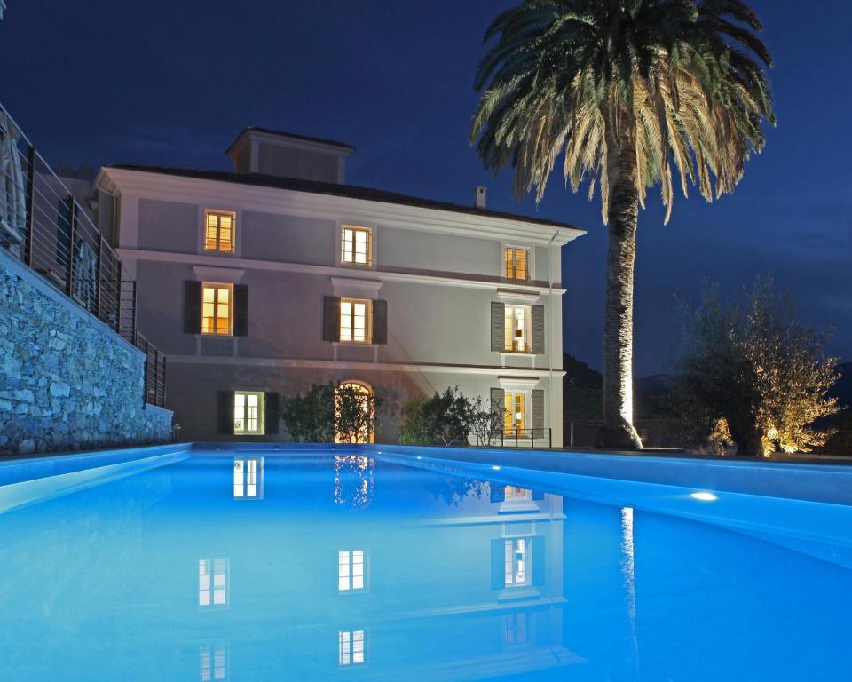 The swimming pool at or near U Palazzu Serenu