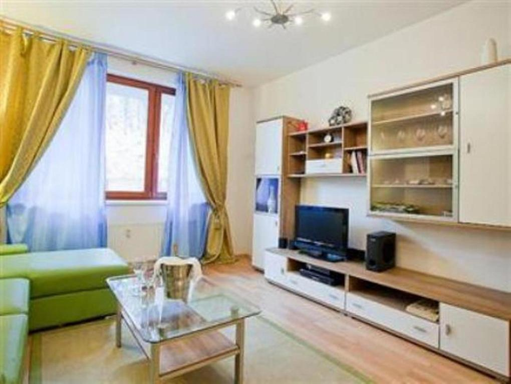 Televisi dan/atau pusat hiburan di Apartment Smichov