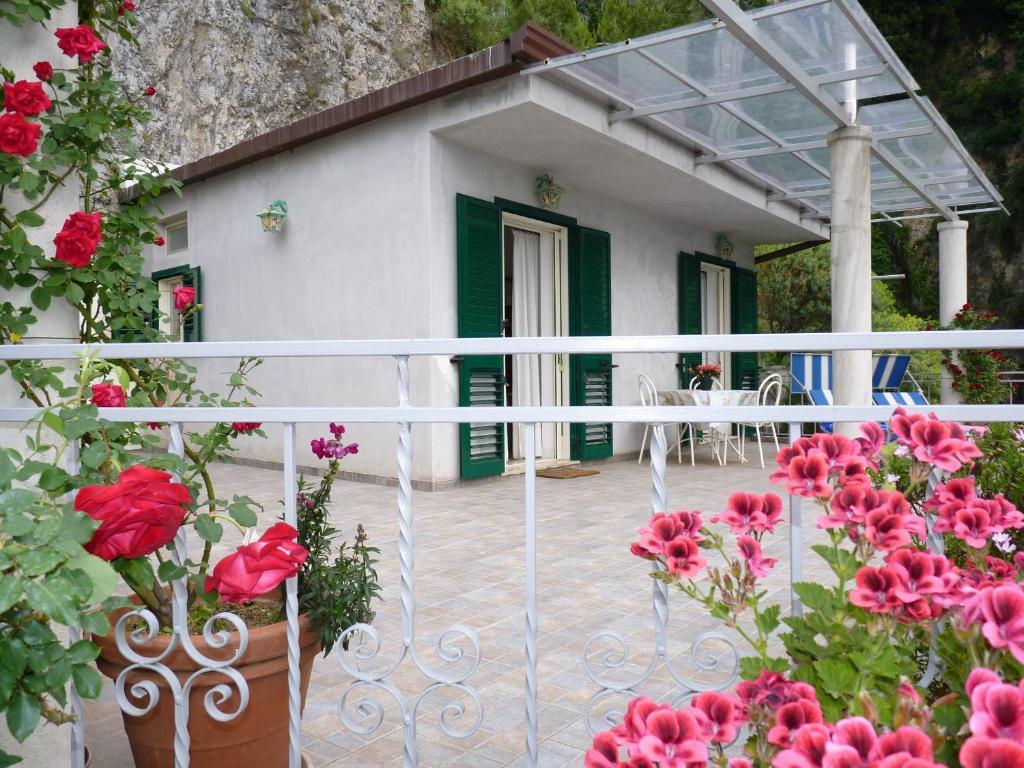 A balcony or terrace at Casa Fortunata