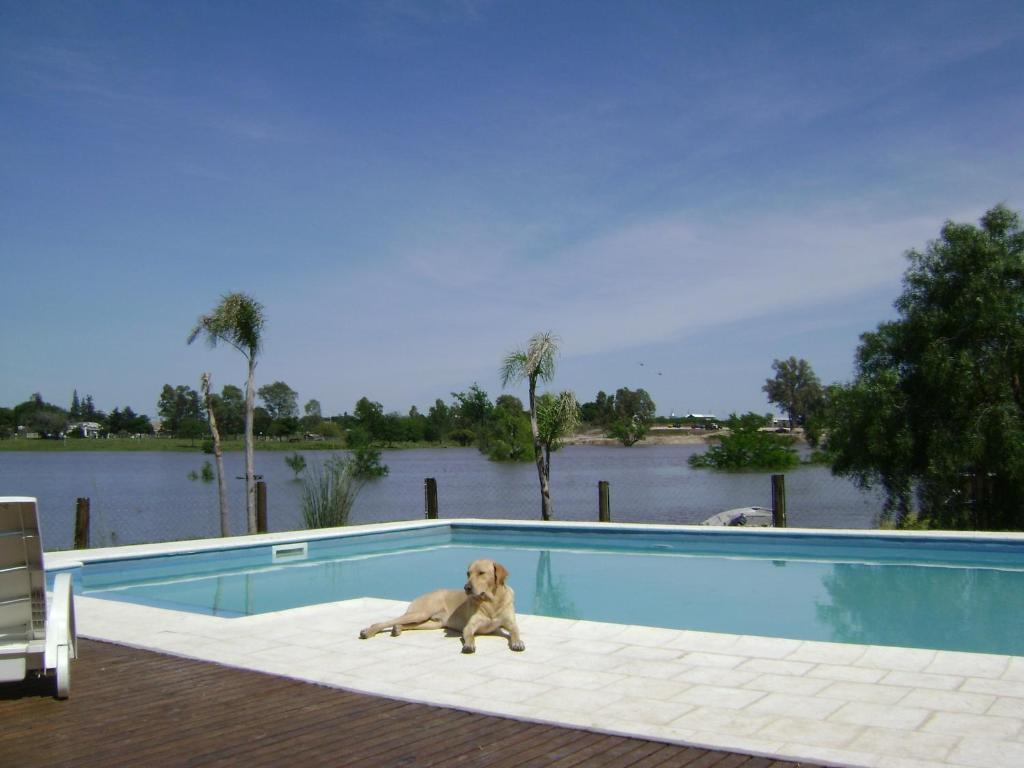 The swimming pool at or near Cabañas del Paraiso