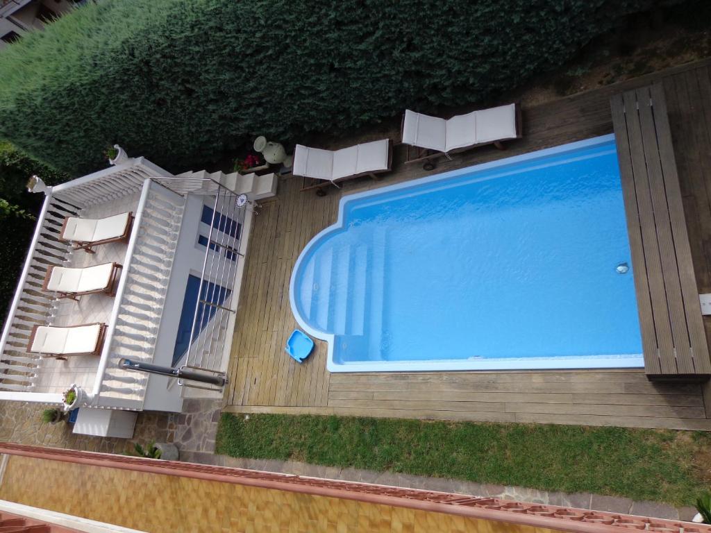 Pogled na bazen v nastanitvi Apartments Butinar Pri Kapitanu oz. v okolici