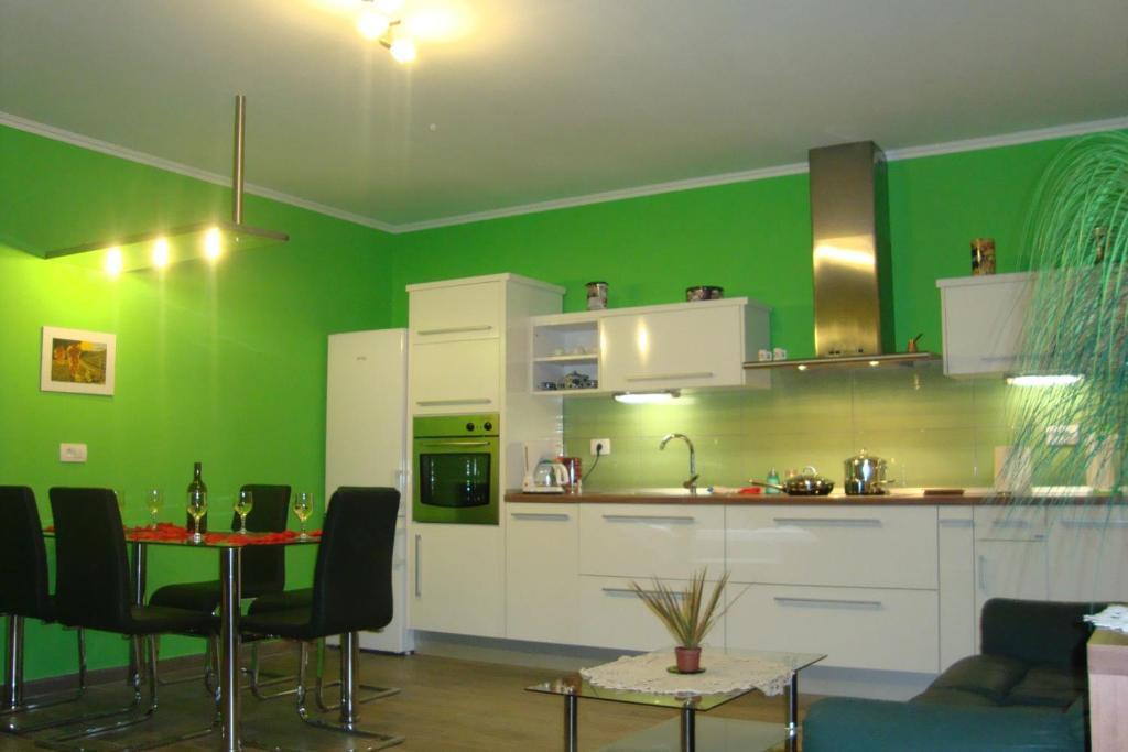 Kuhinja oz. manjša kuhinja v nastanitvi Apartment Thomas