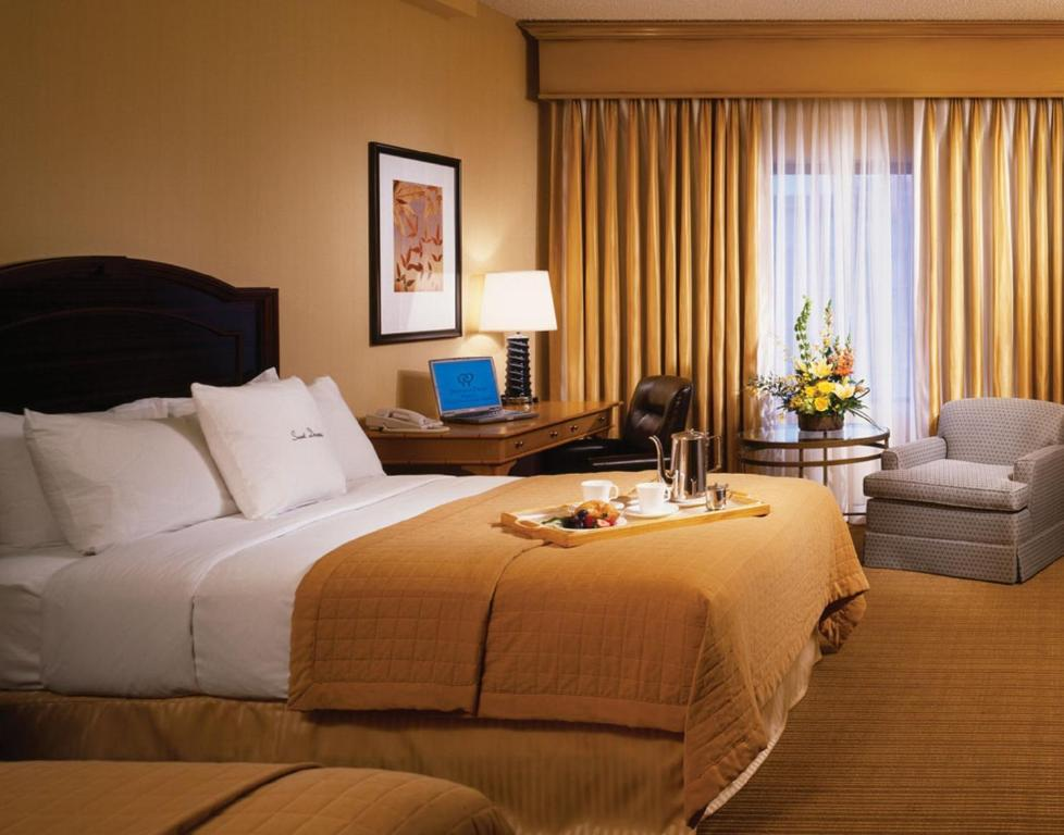 A room at the DoubleTree by Hilton Chicago O'Hare.