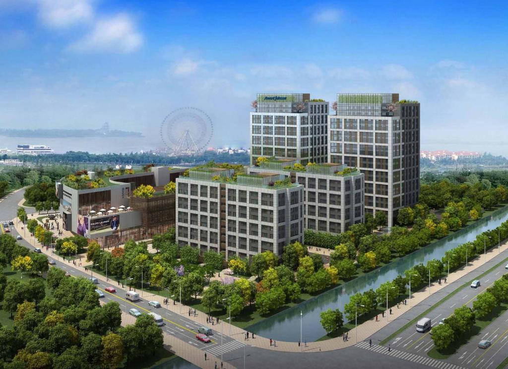 A bird's-eye view of Howard Johnson Jinghope Serviced Residence Suzhou