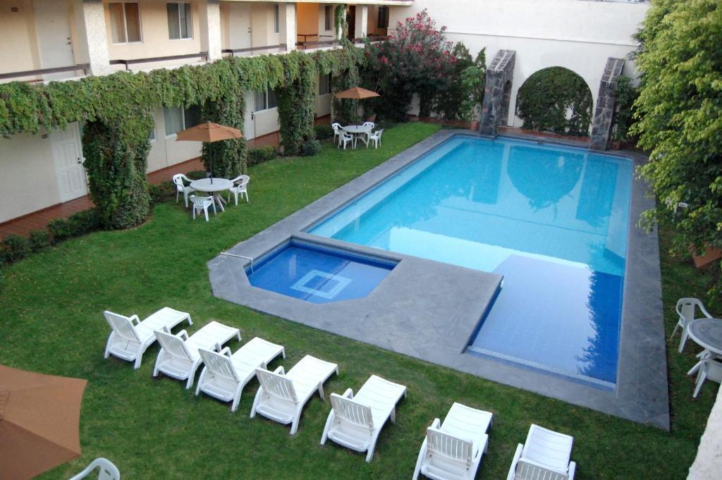 Vista de la piscina de Real de Minas San Luis Potosi o alrededores