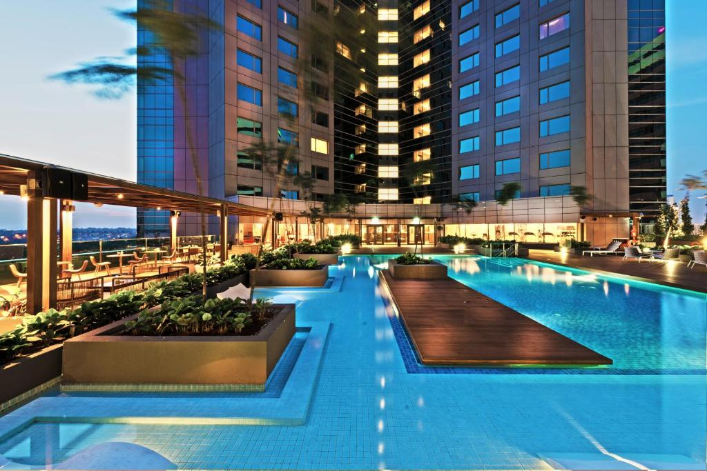 The swimming pool at or near Doubletree by Hilton Johor Bahru