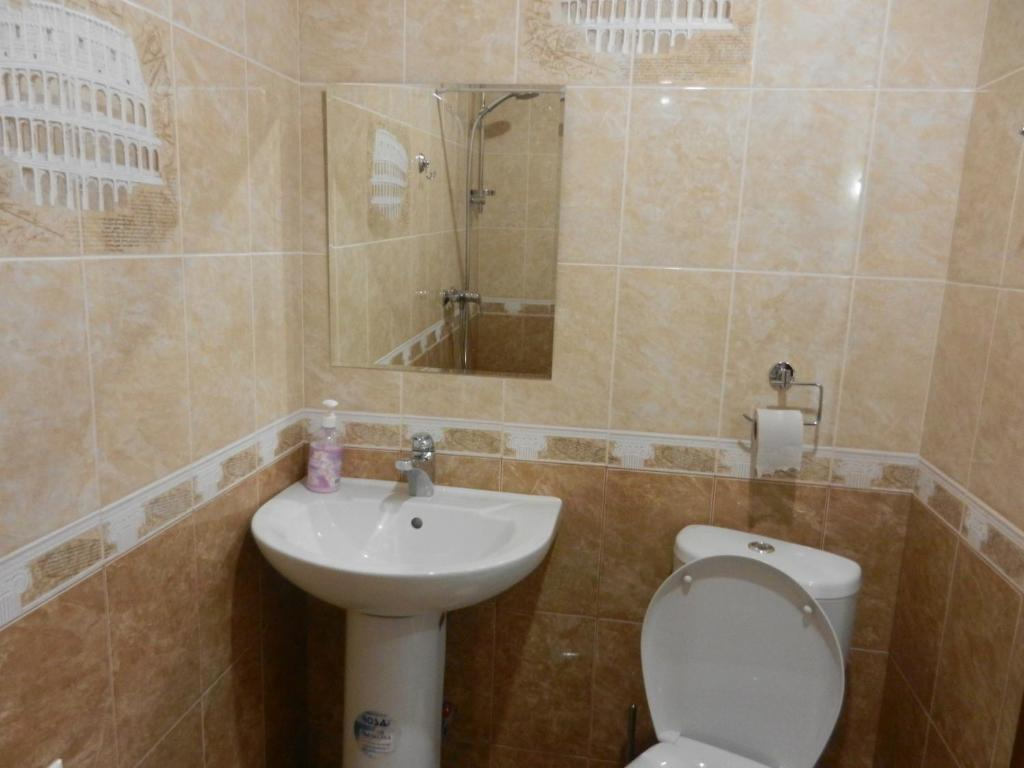 Ванная комната в Гостиница Артик