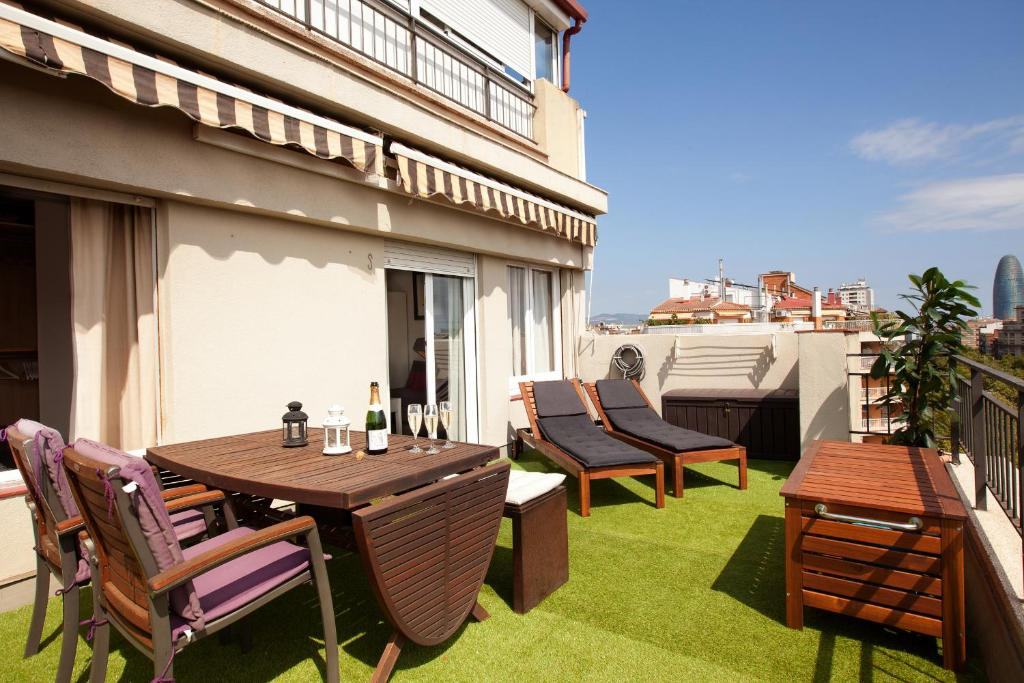 Apartamento boutique terrace espa a barcelona for Alojamiento en barcelona espana