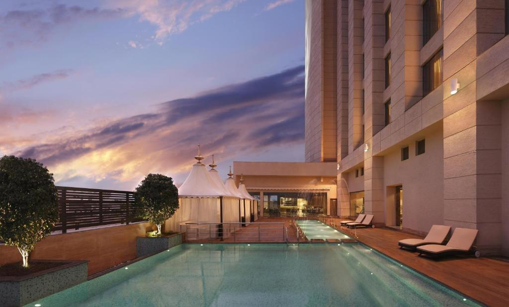 The swimming pool at or near Hilton Jaipur