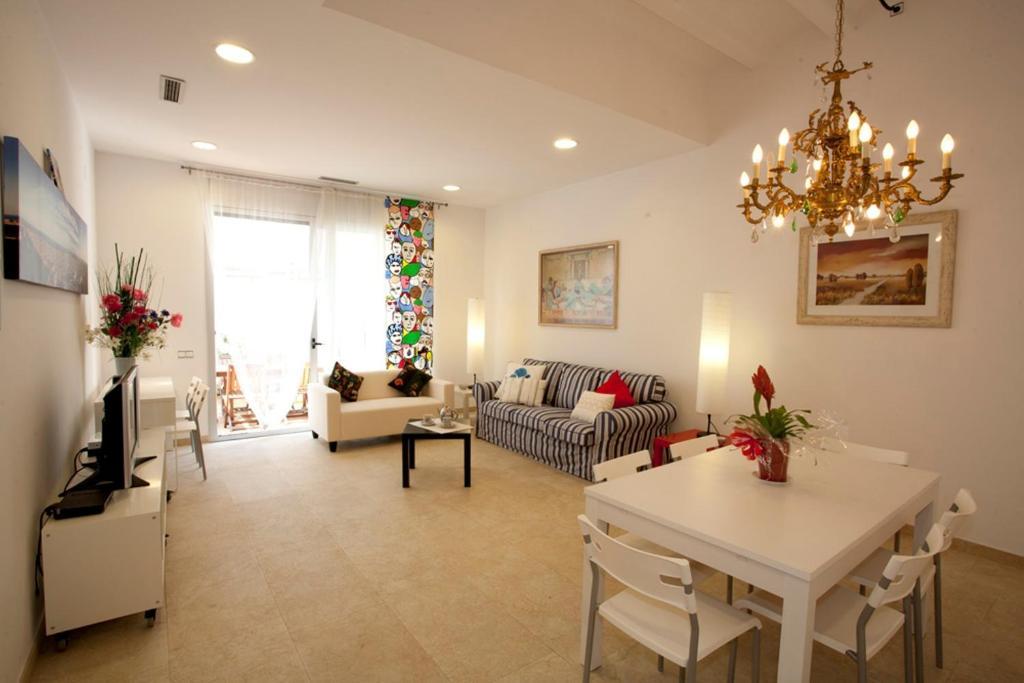 Uma área de estar em Coroleu House Barcelona