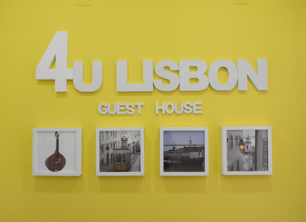 A certificate, award, sign, or other document on display at 4U Lisbon Guesthouse