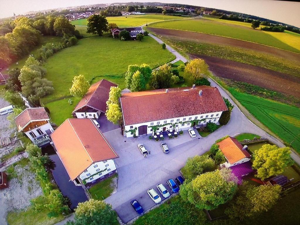 Letecký snímek ubytování Pension Poschmühle