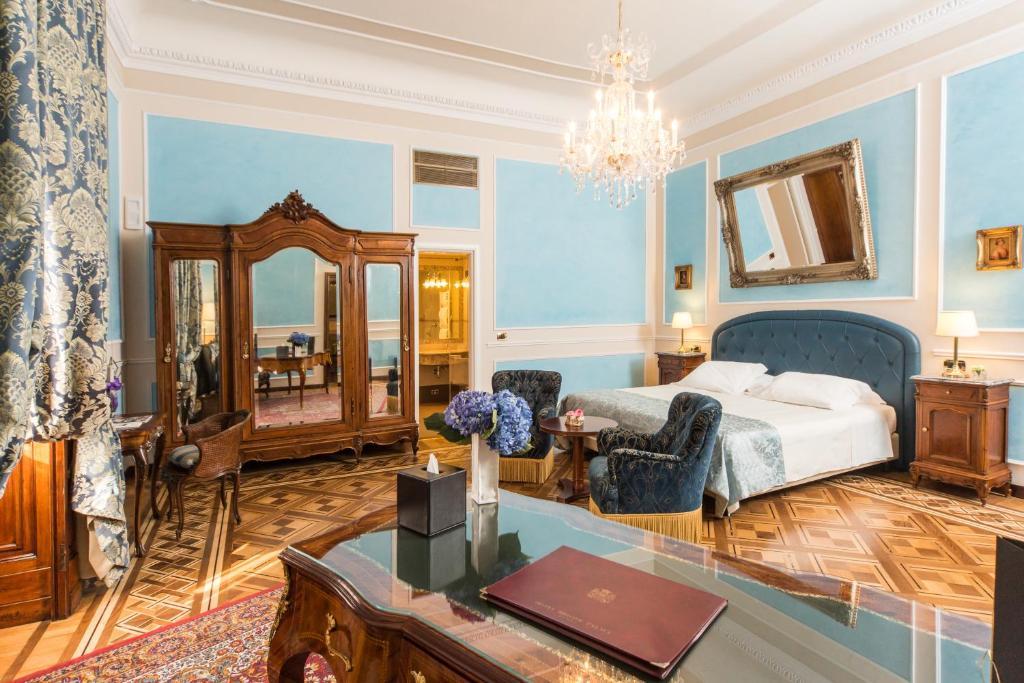 Chambre de l'Hotel Bristol à Gênes.