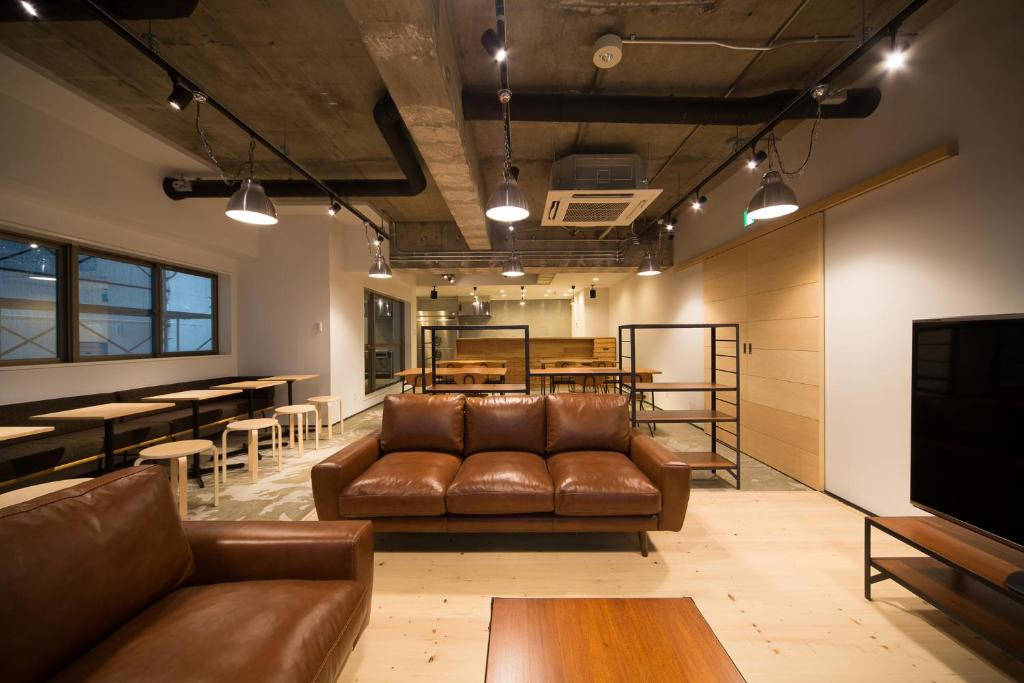 A seating area at The Stay Sapporo