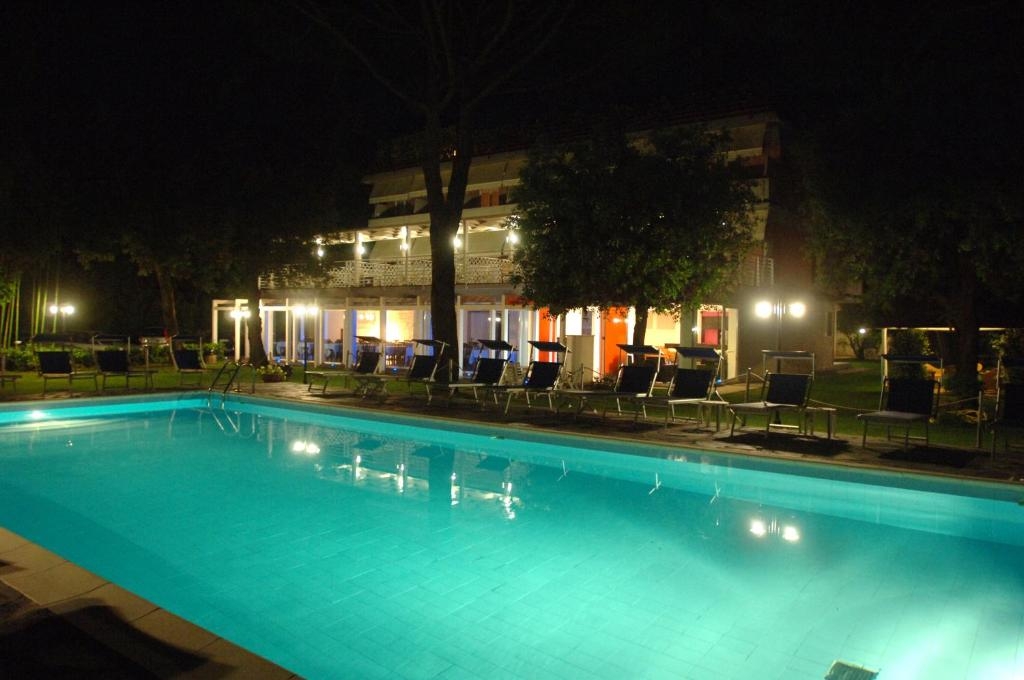 The swimming pool at or near Hotel Hermitage