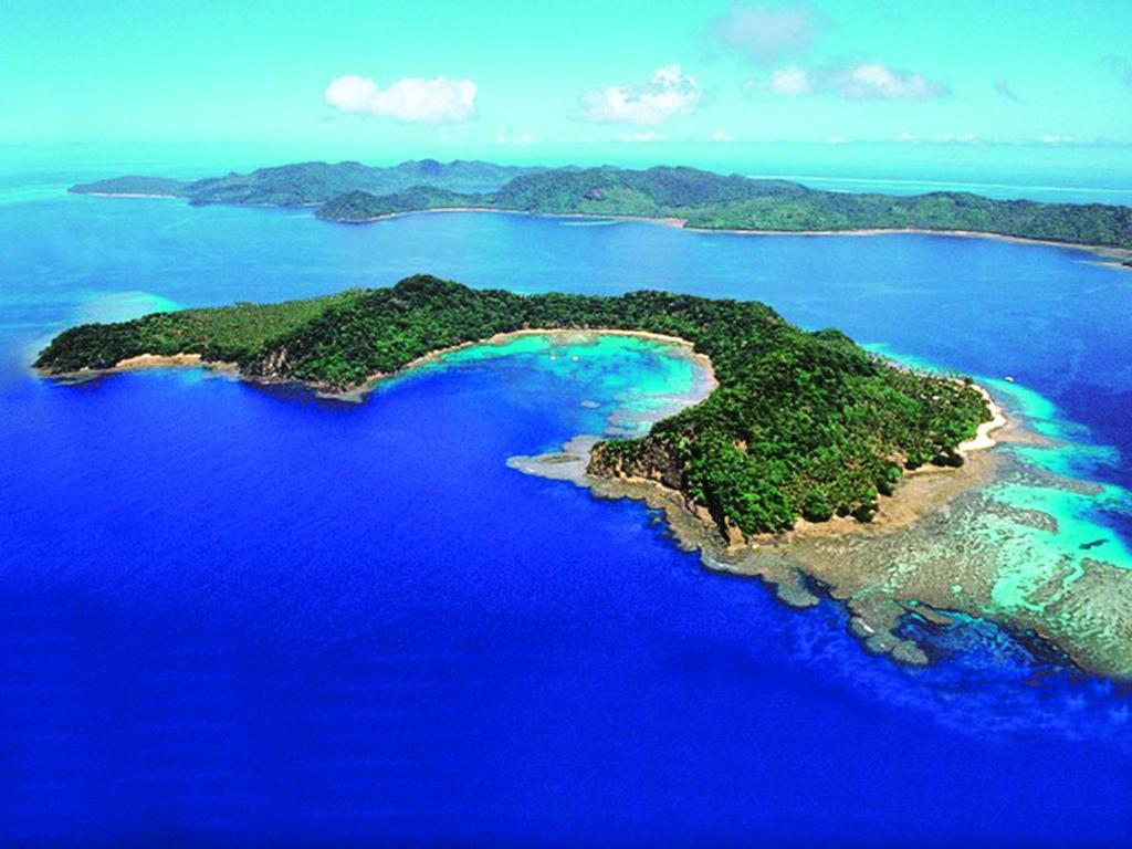 A bird's-eye view of Matangi Private Island Resort - Adults Only