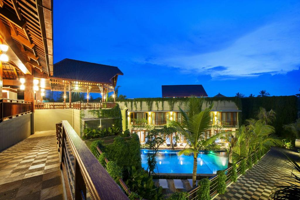 A view of the pool at Ubud Wana Resort or nearby