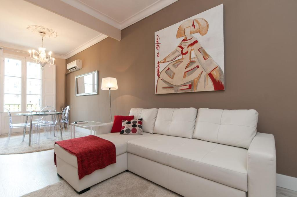 A seating area at Boutique Apartment Sagrada Familia