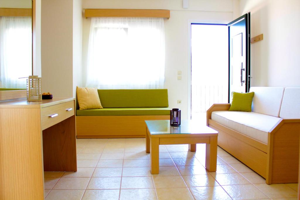 A seating area at Olive Tree Apartments