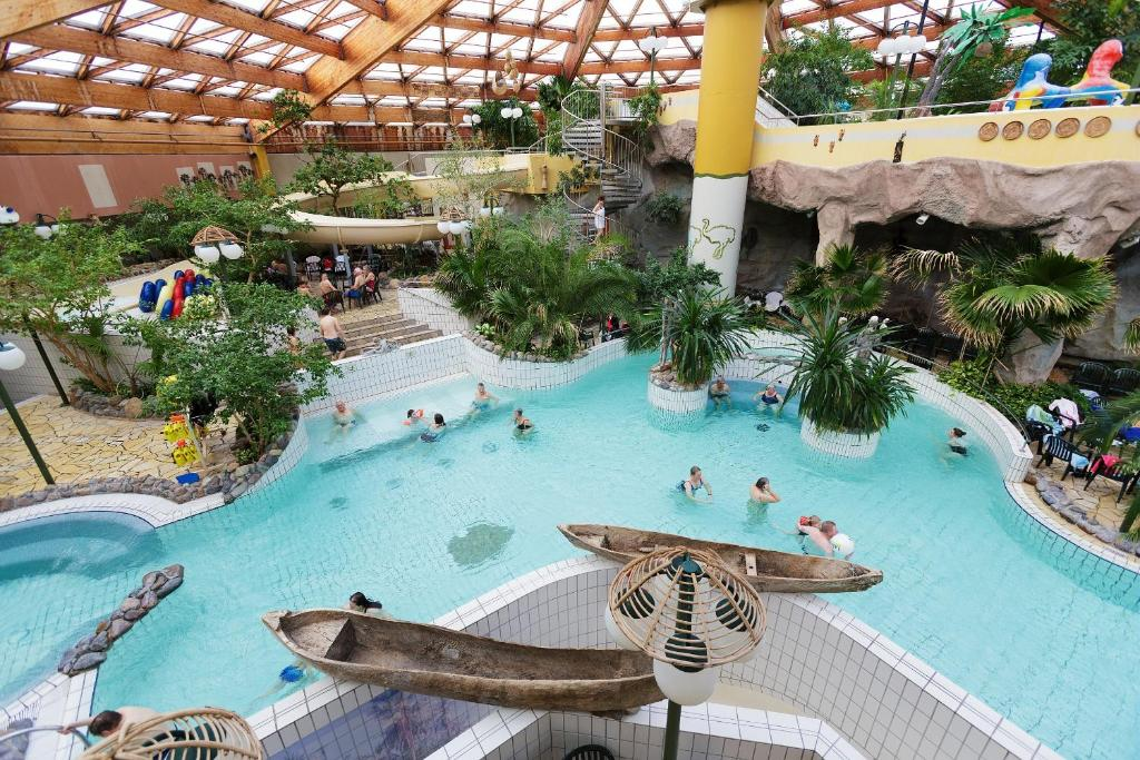 A view of the pool at Center Parcs Nordseeküste Bremerhaven or nearby