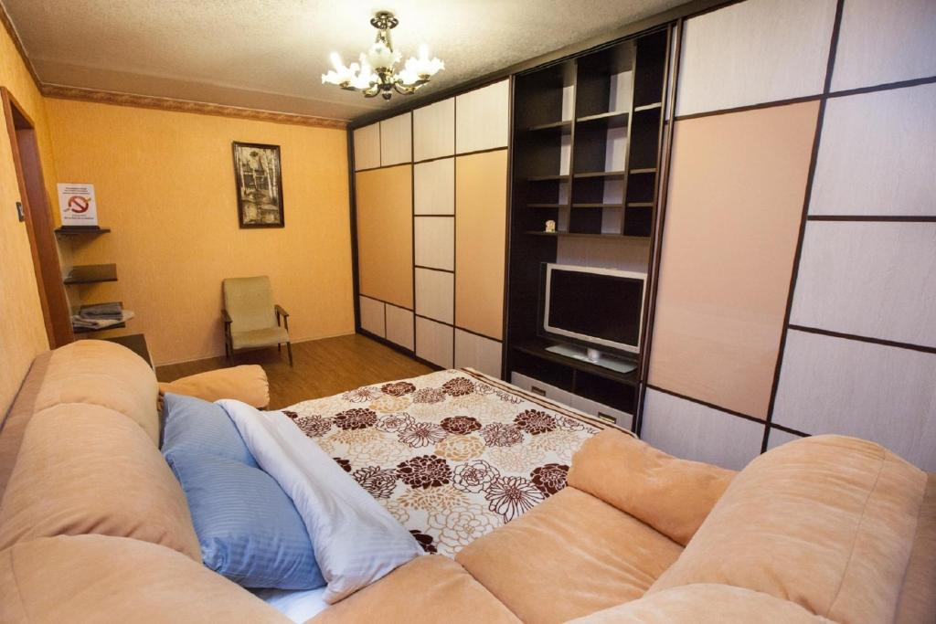 A seating area at Apartments in Krylatskoye