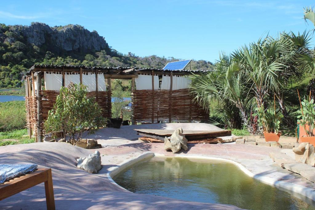 The swimming pool at or near Iharana Bush Camp
