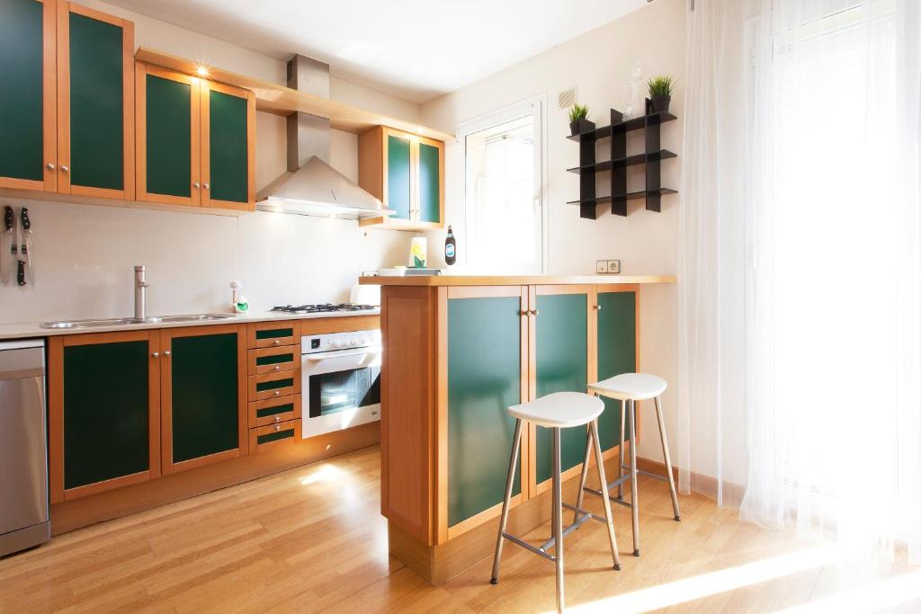 A kitchen or kitchenette at Apartment Laberint