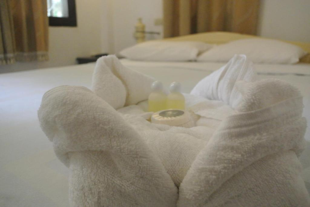 Ein Bett oder Betten in einem Zimmer der Unterkunft View Khemkhong Guesthouse