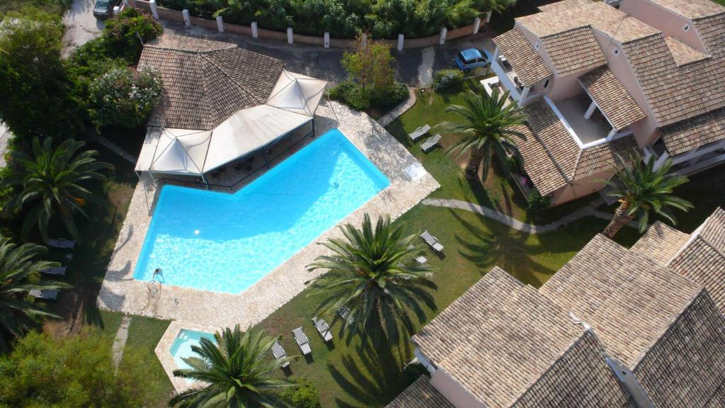 A view of the pool at Folies Corfu Town Hotel Apartments or nearby