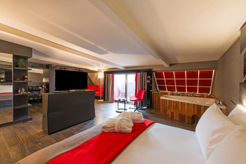 Een zitgedeelte bij Hotel Favori Nisantasi