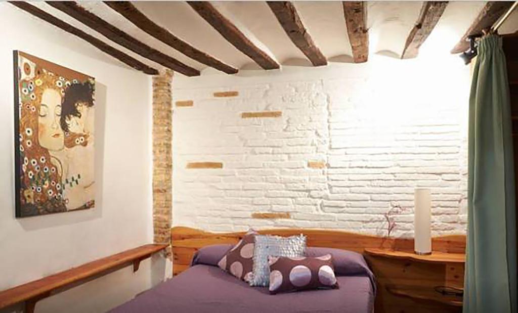 Cama o camas de una habitación en Casa Ana Mari II