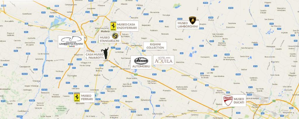 Aquila Italy Map.Hotel Aquila Castelfranco Emilia Italy Booking Com