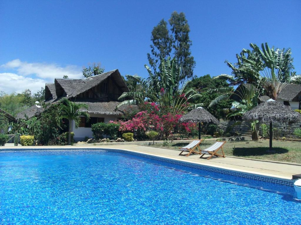 The swimming pool at or near Les Dauphins De Nosy Be