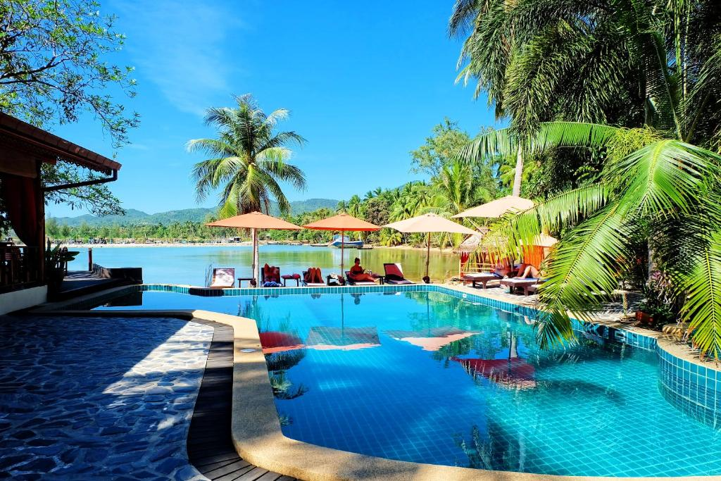 The swimming pool at or near Cyana Beach Resort