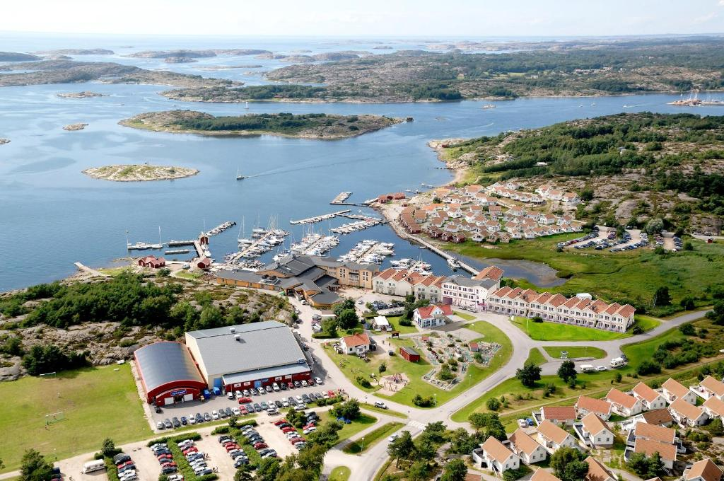 A bird's-eye view of Tanumstrand Stugor