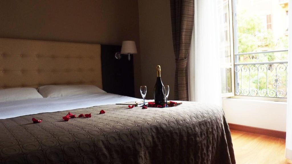Uma cama ou camas num quarto em Hotel Nautilus