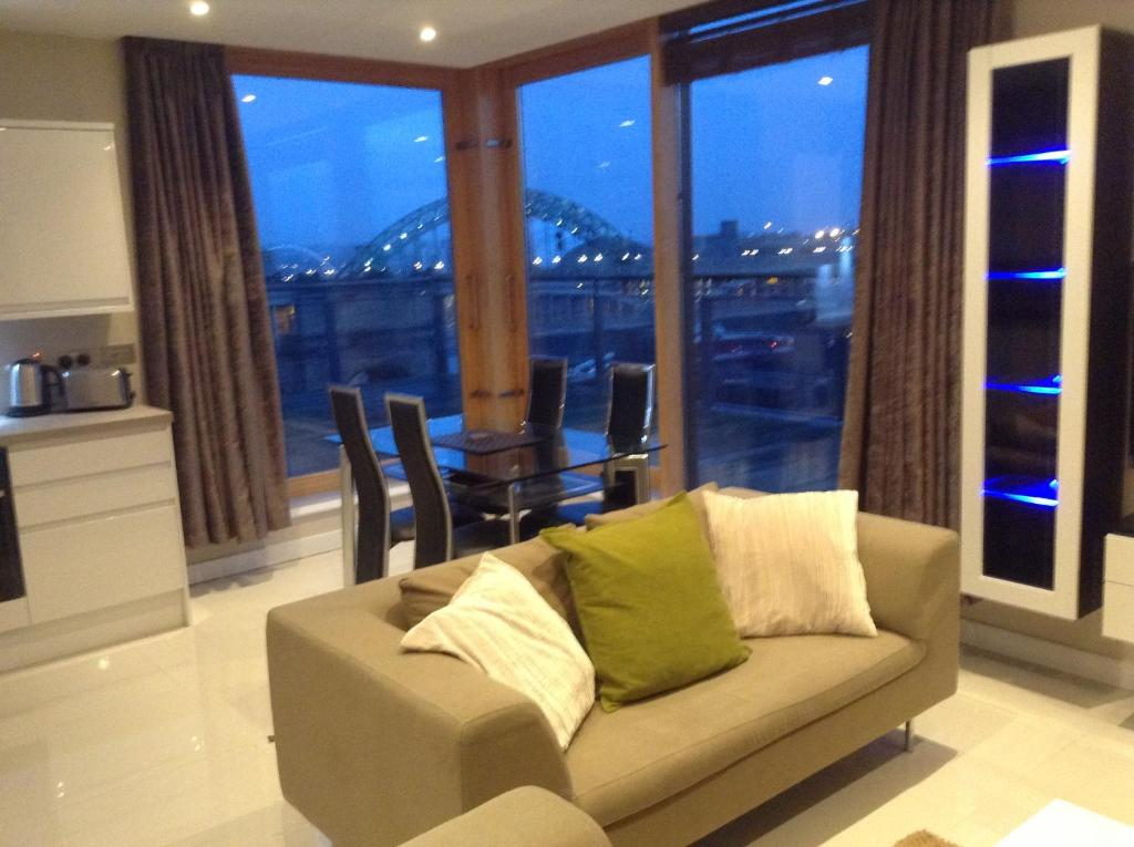 Living Room Newcastle apartment amazing city centre penthouse with, newcastle upon tyne