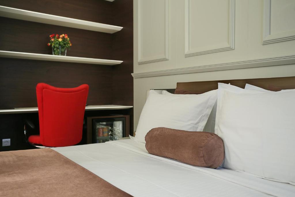 Krevet ili kreveti u jedinici u okviru objekta Belgreat Premium Suites