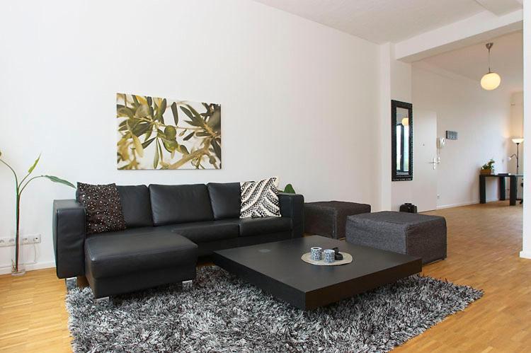 A seating area at Berlin - Apartments Friedrichshain